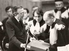 Laurea ad honorem a François Mitterrand