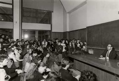 Umberto Eco all'Università Lettere e Filosofia Aula V