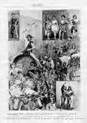 Anno 1888: personaggi della sfilata goliardica del 8. centenario della regia universita di Bologna: la botte di barbera donata dai goliardi torinesi