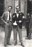 Giovani partigiani: Bologna, cortile d'Ercole di Palazzo Poggi: 21 aprile 1945