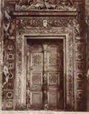 Certosa: finestrone finto della facciata della chiesa