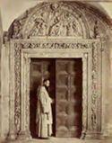 Porta del chiostro piccolo: certosa: Pavia