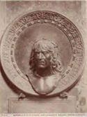 Mantova: basilica di S. Andrea: busto in bronzo di Mantegna (Sperandio Migliori)