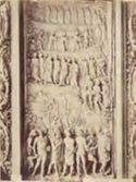 Certosa di Pavia: bassorilievi nella porta principale