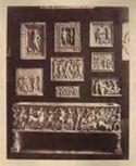Napoli: museo archeologico nazionale: sarcofago con trionfale processione di Bacco e dei suoi satiri