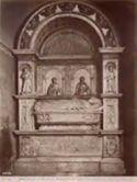 Roma: chiesa di S. Prassede: monumento del card[inal]e Alano vescovo di Sabina (15. secolo)