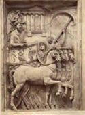 Roma: museo Capitolino: trionfo di Marco Aurelio (bassorilievo antico)