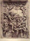 Roma: museo Capitolino: i germani che implorano la pace da Marco Aurelio (bassorilievo antico)