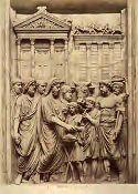 Roma: museo Capitolino: Marco Aurelio che sacrifica davanti il tempio di Giove capitolino (bassorilievo antico)