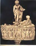 Sarcofago ovale di fanciullo: mus[eo] Vat[icano]: Roma