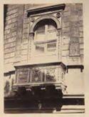 Roma: palazzo della Cancelleria: balcone su via del Pellegrino