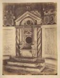Cattedra ricomposta con elementi cosmateschi: chiesa di S. Cesareo de Appia: Roma