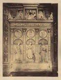 Trittico marmoreo di scuola del Bregno: chiesa di S. Maria del Popolo: Roma