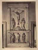 Parte di un altare: chiesa di S. Maria in Monserrato, chiostro: Roma
