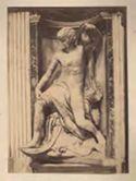 Giona che esce dalla balena, scultura del Lorenzetto su disegno di Raffaello: chiesa di S. Maria del Popolo: Roma