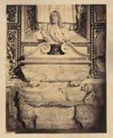 Monumento del cardinale Garcia Mellini con busto del defunto di Alessandro ALgardi: chiesa di S. Maria del Popolo: Roma