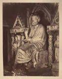 Statua di S. Pietro seduto in cattedra, originale del 3. secolo: Sacre Grotte Vaticane: Roma