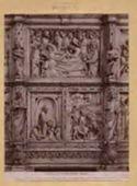 Arezzo: cattedrale: un dettaglio della parte posteriore dell'altare maggiore