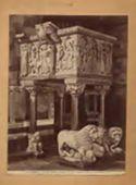 Barga: provincia di Lucca: duomo: il pulpito: (13. secolo)