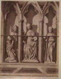 Perugia: chiesa di s. Domenico: cenotafio di papa Benedetto 11.: dettaglio