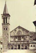 Spoleto: facciata del duomo e campanile