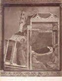 Assisi: chiesa superiore di s. Francesco: Innocenzo 3. vede in sogno s. Francesco che sostiene il Laterano
