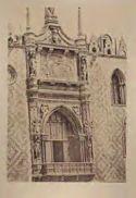 Venezia: palazzo Ducale: facciata occidentale verso la piazzetta: balcone