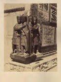 [Venezia: Palazzo Ducale: angolo inferiore davanti alla porta della Carta: quattro statue in porfido]