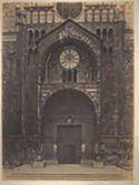 Verona: duomo: protiro della facciata