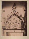 Venezia: campo s. Zaccaria: portale gotico: lunetta verso il campo s. Provolo: altorilievo con Madonna in trono col Bambino tra i Ss. Giovanni Battista e Marco