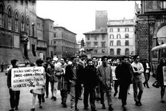 Manifestazione in favore di Rudi Dutschke: Bologna, 12 aprile 1968