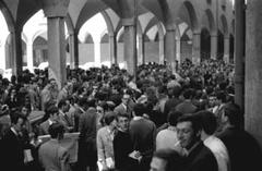 Occupazione della sede centrale dell'Università, via Zamboni: Bologna  1968