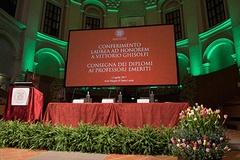 Laurea honoris causa a Vittorio Ghisolfi e consegna dei diplomi ai Professori Emeriti