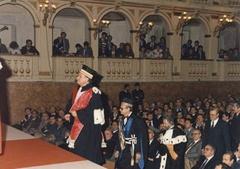 Inaugurazione dell'anno accademico 1986-1987. Ospite l'On. Bettino Craxi.