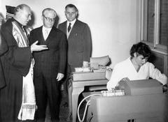 Decennale della Resistenza e inaugurazione della nuova sede della Facoltà di Economia e Commercio 1955