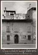 [Casa natale di Luigi Galvani: via [delle] Casse 25 (ora via Roma) Bologna]