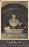[Luigi Galvani: busto dello scultore De Maria, 1806 (nel monumento eretto nella r. università di Bologna)]