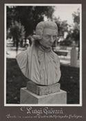 [Luigi Galvani: busto in marmo nel giardino della Montagnola, Bologna]