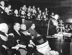 Laurea honoris causa ad E. Mattei 1958